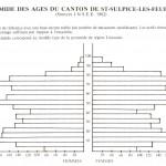 Pyramide des âges du canton de Saint-Sulpice-les-Feuilles