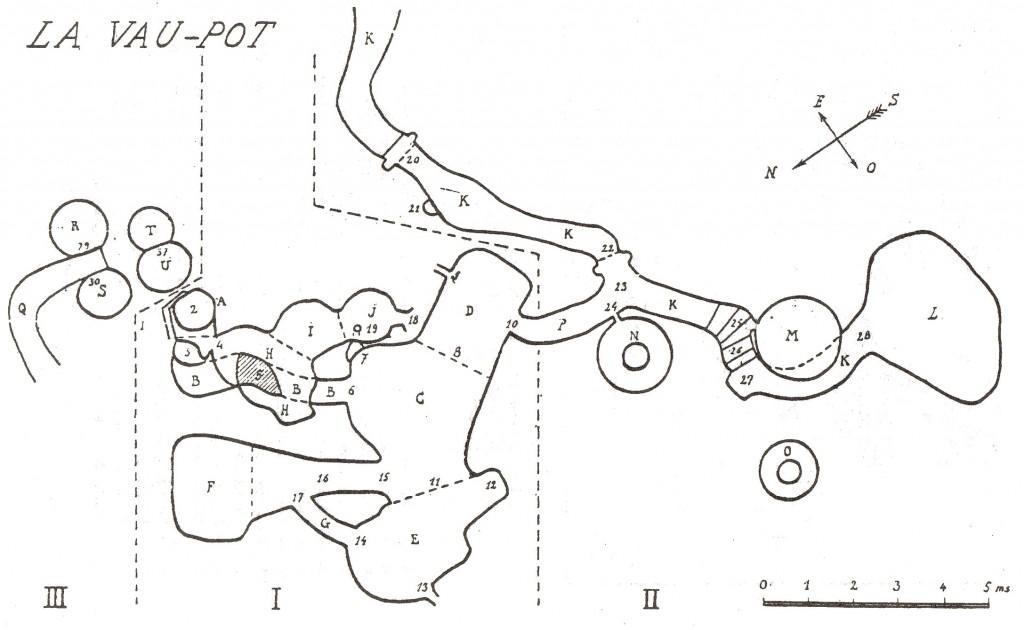 Plan général du souterrain de Lavaupot